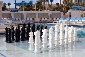 Delano Beach Club submerged chess board