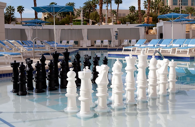 Delano Beach Club submerged chess board