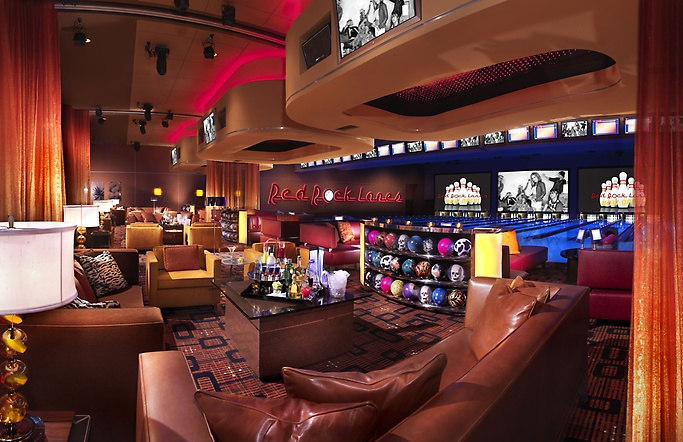 Bowling center's VIP area