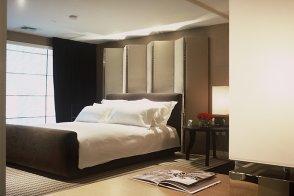 Master bedroom in the two-bedroom Skyloft