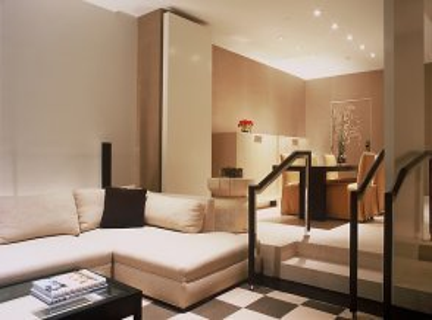 Steps in two-bedroom Skyloft
